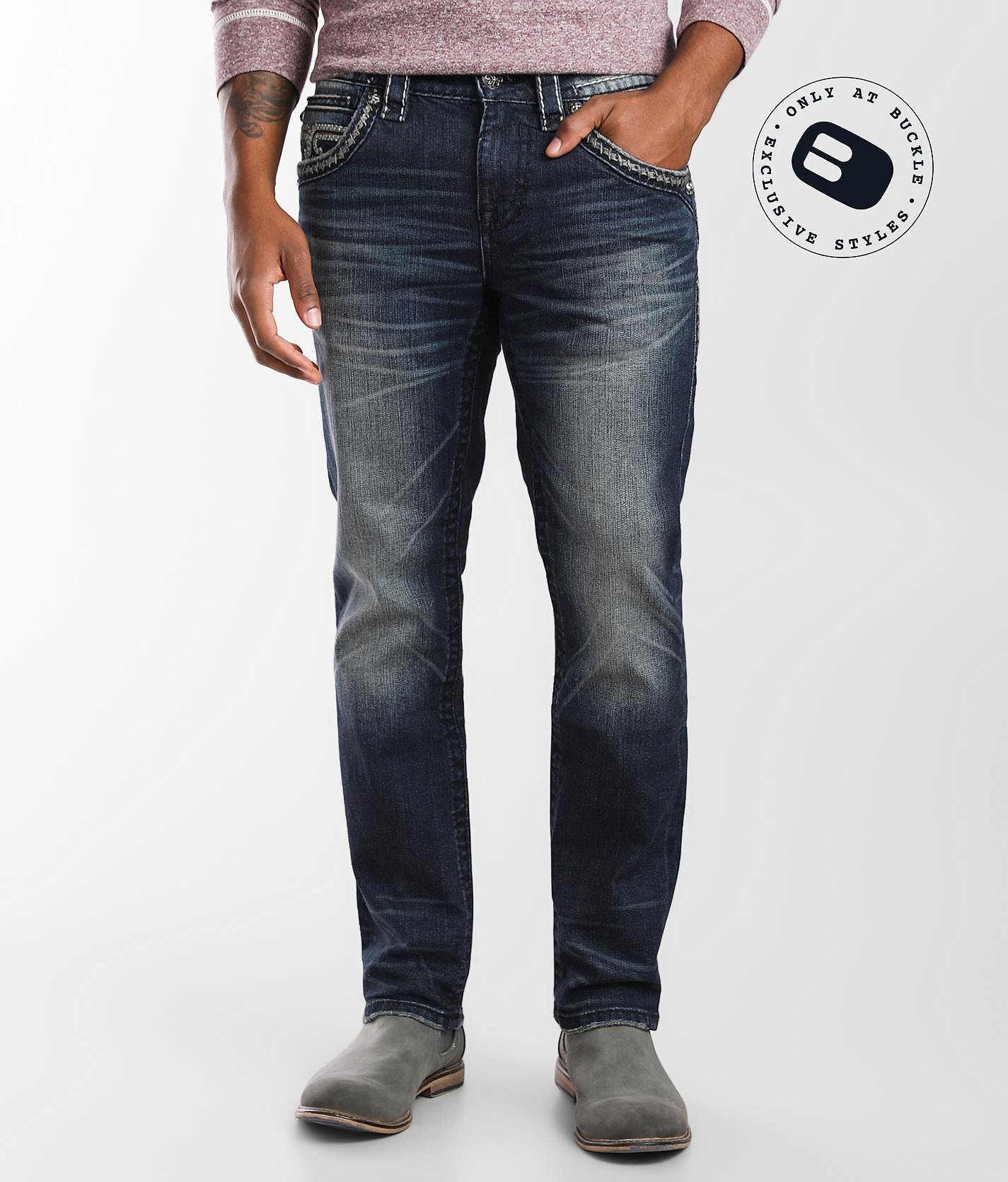 Bolton Slim Straight Stretch Jean by Rock Revival
