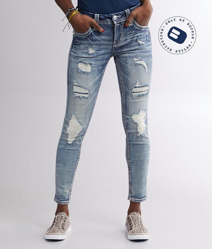 Rock Revival Vien Mid-Rise Ankle Skinny Jean front view