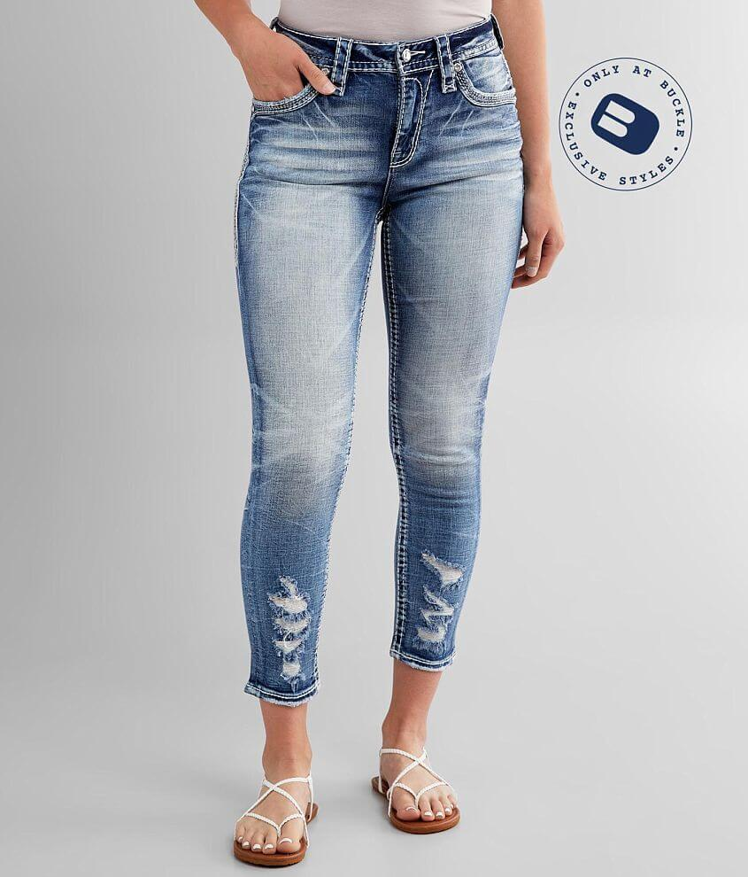 Rock Revival Coral Haze Easy Ankle Skinny Jean front view