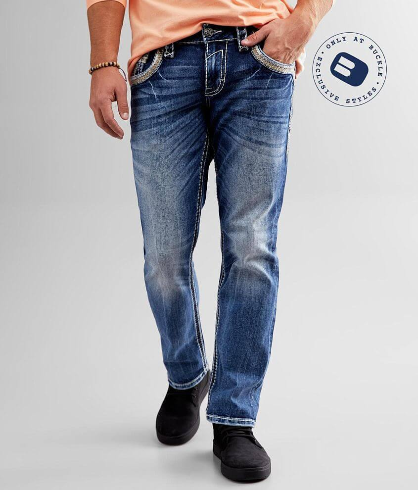 Rock Revival Rayden Relaxed Taper Stretch Jean front view