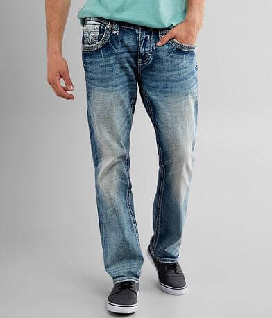 Rock Revival Aquifer Relaxed Taper Stretch Jean