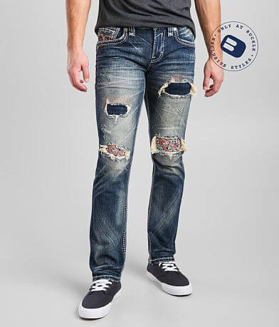 Rock Revival Cashew Slim Straight Stretch Jean