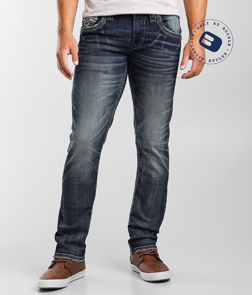 Rock Revival Urban Chic Slim Straight Stretch Jean front view