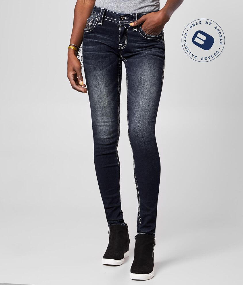 Rock Revival Oliana Mid-Rise Skinny Stretch Jean front view