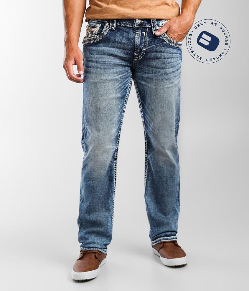 Rock Revival Tendril Relaxed Taper Stretch Jean front view