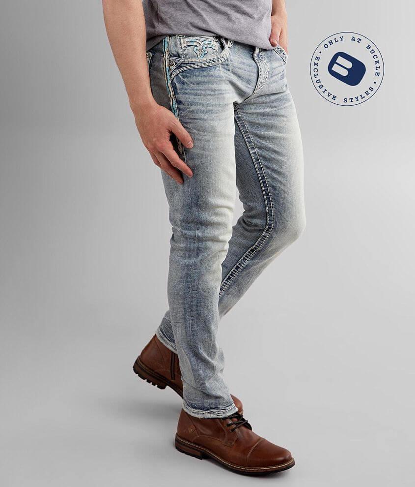 Rock Revival Vapor Blue Slim Taper Stretch Jean front view