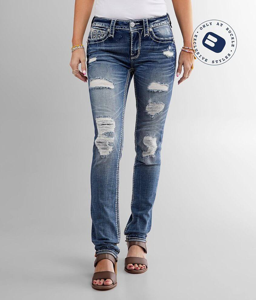 Rock Revival Ferry Mid-Rise Straight Stretch Jean front view