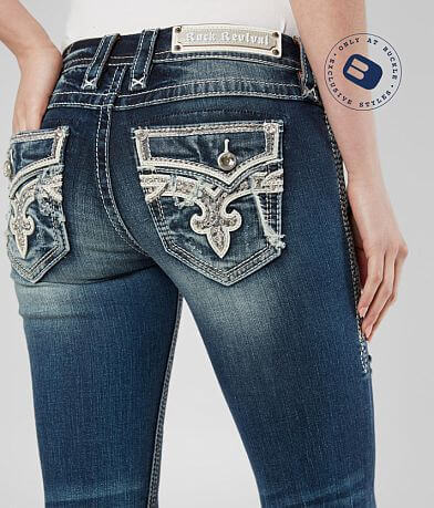 Rock Revival Adara Straight Stretch Cuffed Jean