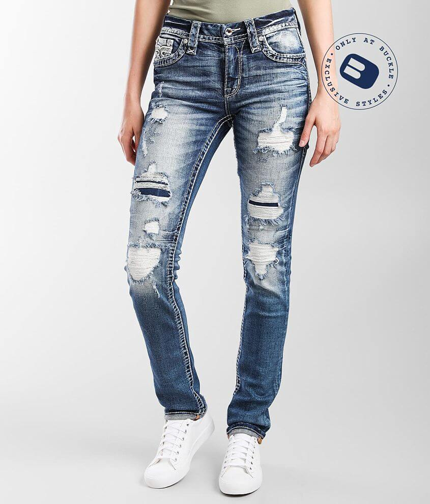 Rock Revival Barbra Mid-Rise Straight Stretch Jean front view