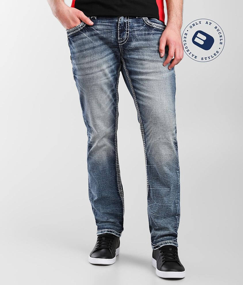 Rock Revival Sleets Relaxed Taper Stretch Jean front view