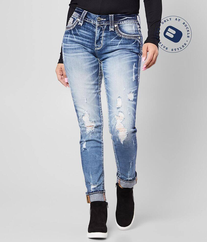 Rock Revival Iselin Easy Ankle Skinny Stretch Jean front view