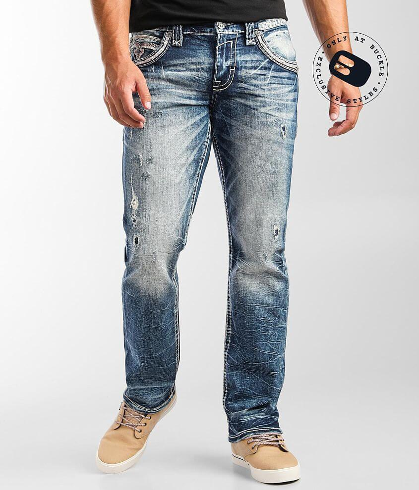 Rock Revival Tan Relaxed Taper Stretch Jean front view