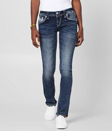 Rock Revival Ash Rose Straight Stretch Cuffed Jean