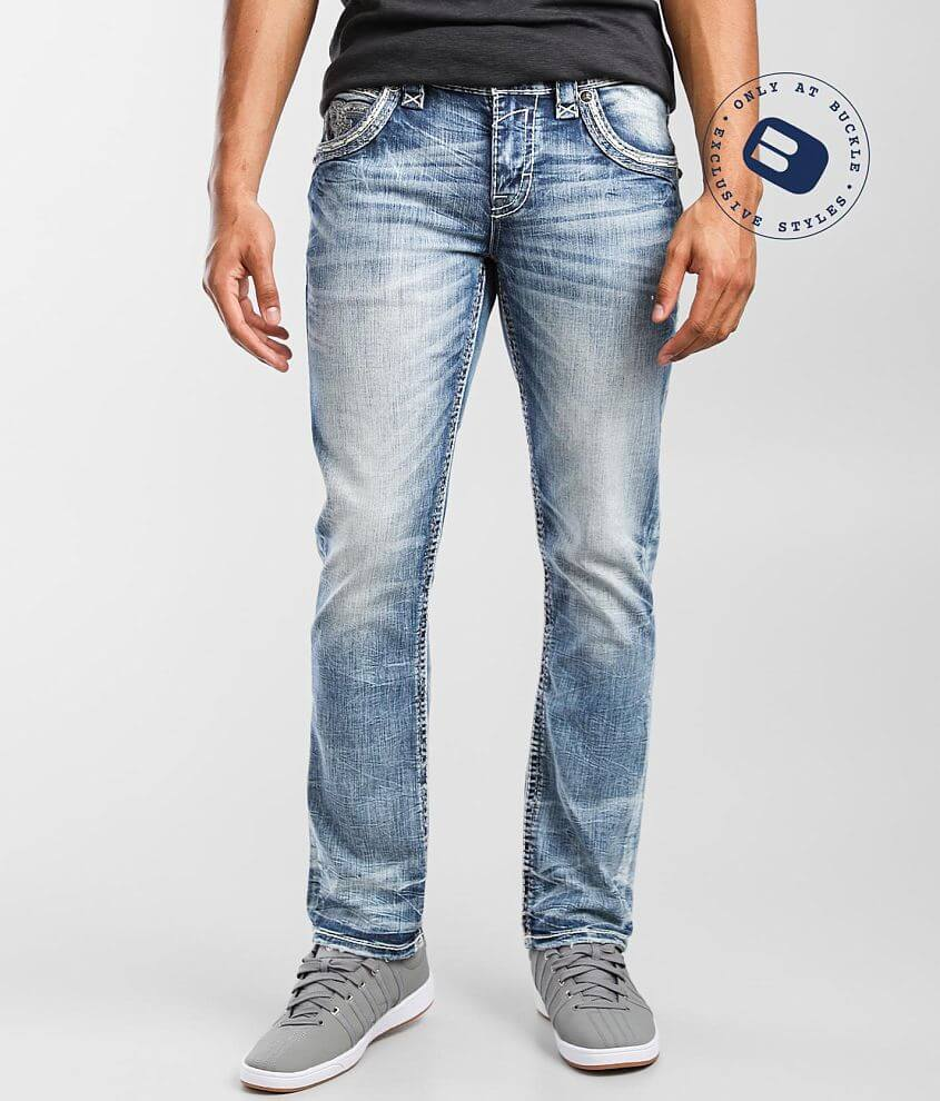 Rock Revival Lucian Slim Straight Stretch Jean front view