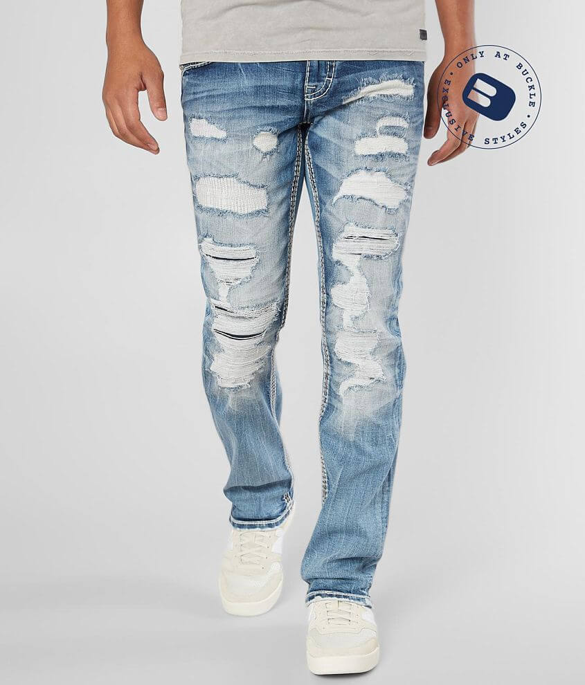 Rock Revival Stan Slim Straight Stretch Jean front view