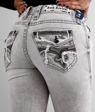 Rock Revival Sepia Mid-Rise Skinny Stretch Jean
