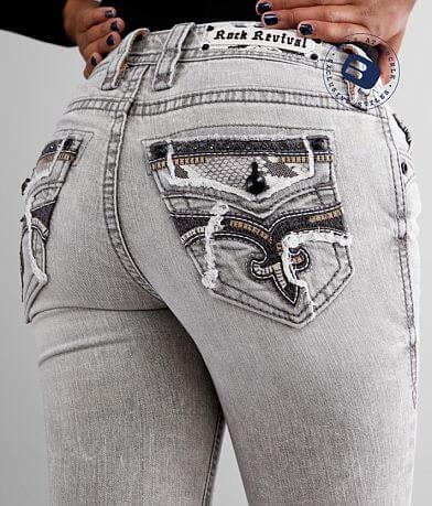 Rock Revival Sepia Mid-Rise Skinny Stretch Jean