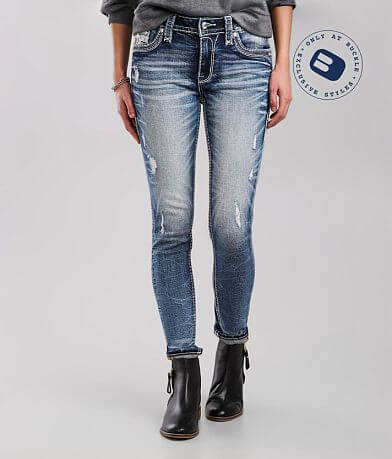 Rock Revival Beet Red Mid-Rise Ankle Skinny Jean