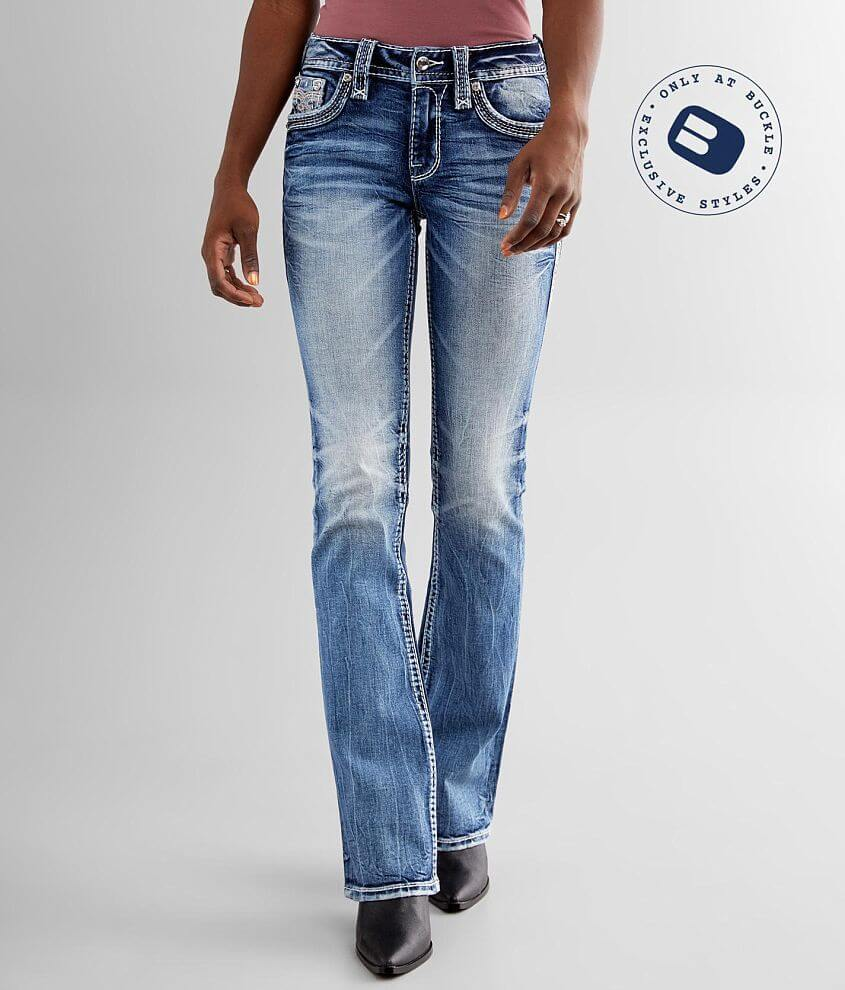 Rock Revival Beet Red Mid-Rise Boot Stretch Jean front view
