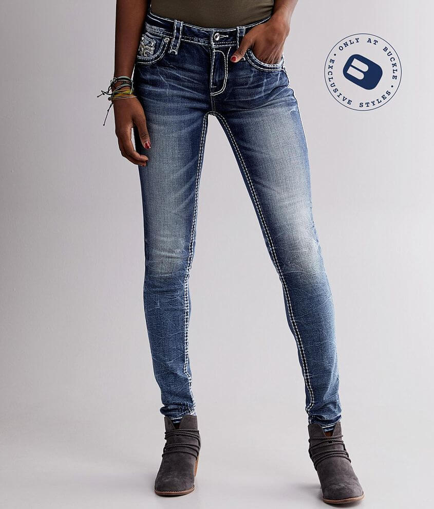 Rock Revival Bariah Mid-Rise Skinny Stretch Jean front view