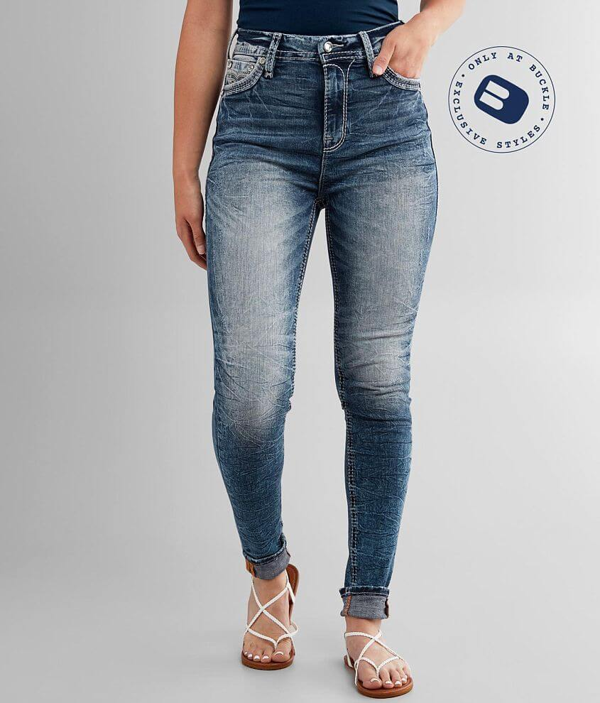 Rock Revival Rio Red Ultra High Rise Skinny Jean front view