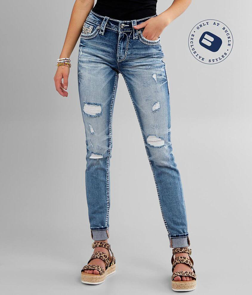 Rock Revival Katydid Mid-Rise Skinny Stretch Jean front view