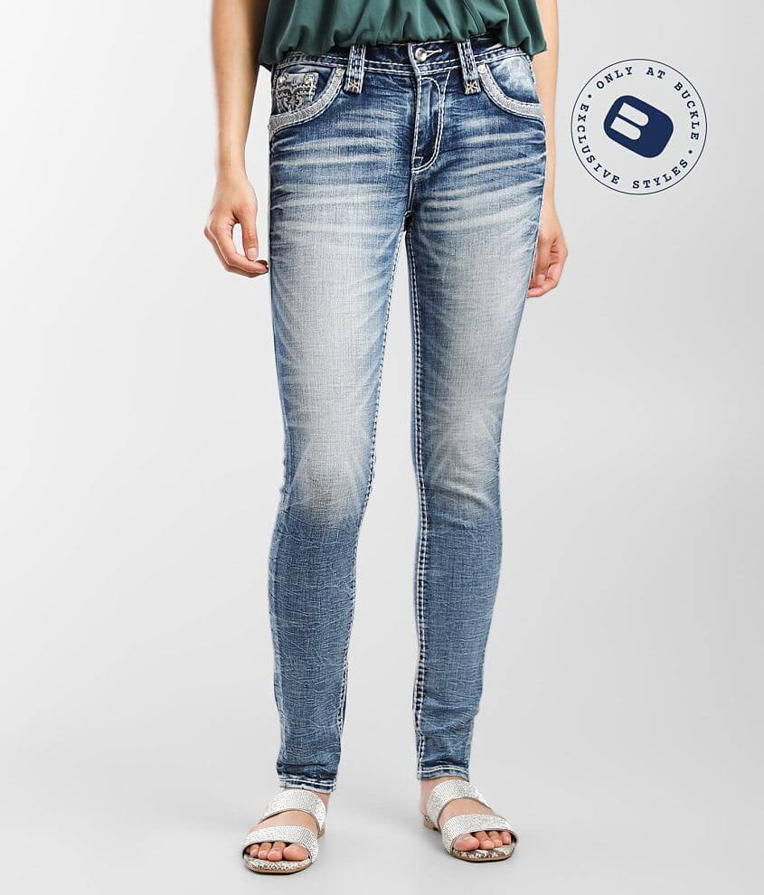 Rock Revival Lilac Rose Mid-Rise Skinny Jean front view