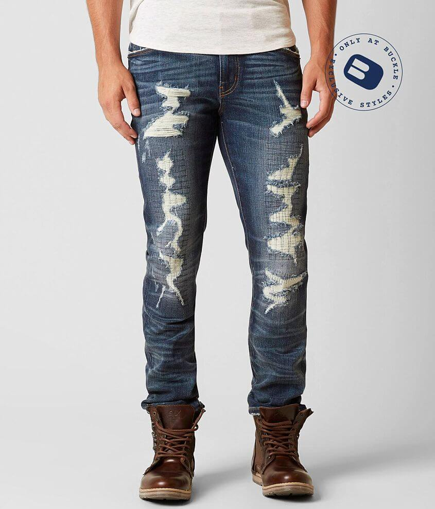 Rock Revival Remix Straight Stretch Jean front view