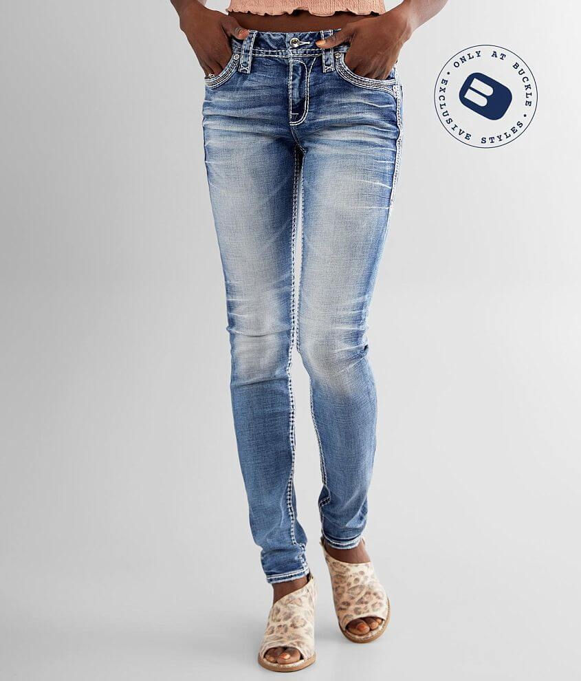 Rock Revival Ysobel Mid-Rise Skinny Stretch Jean front view