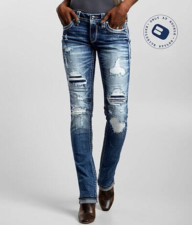 Rock Revival Rosewood Straight Stretch Cuffed Jean