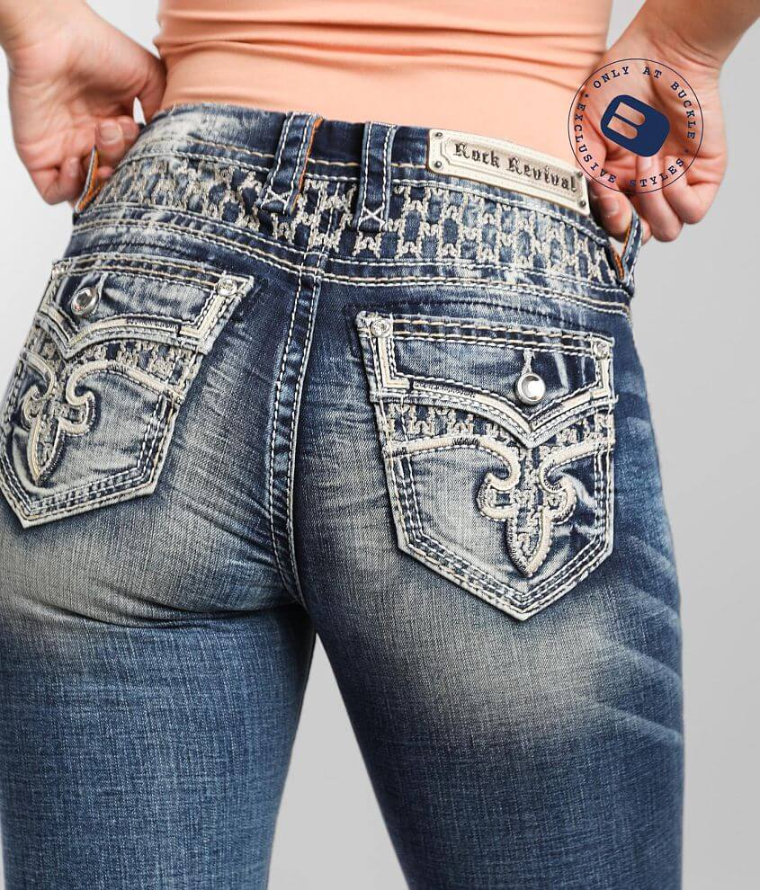 Rock Revival Rosewood Easy Straight Stretch Jean front view