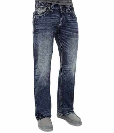 Rock Revival Lancer Relaxed Straight Stretch Jean