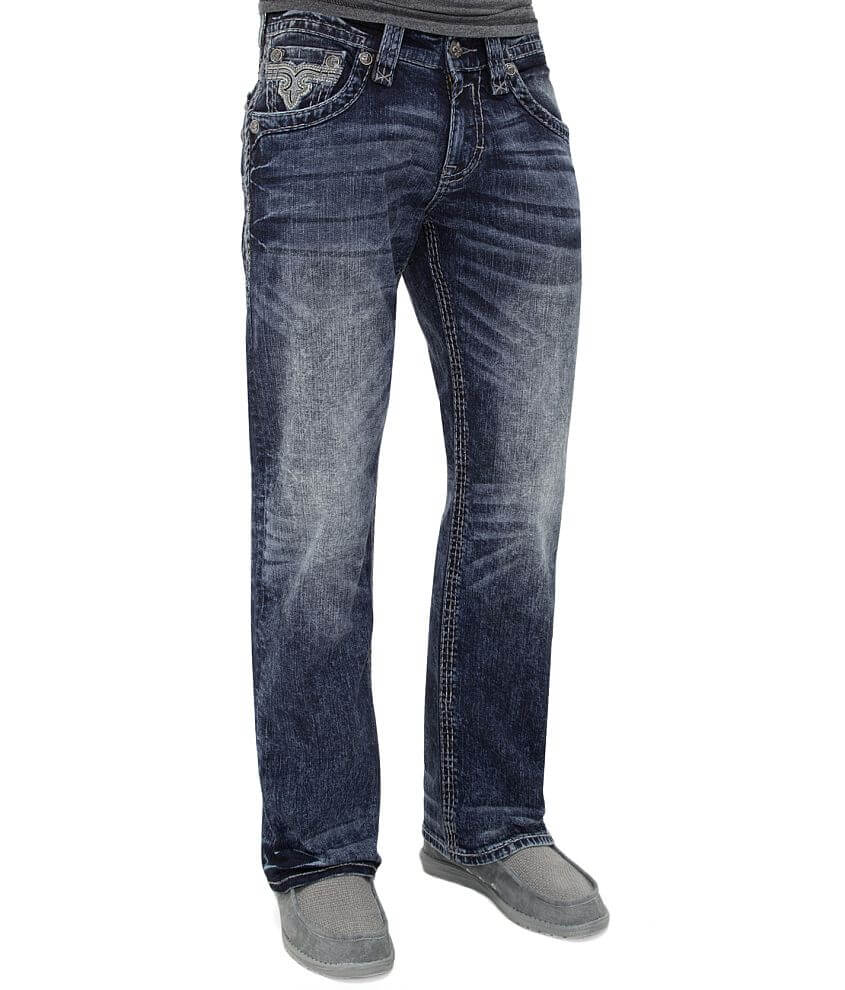 Rock Revival Lancer Relaxed Straight Stretch Jean front view