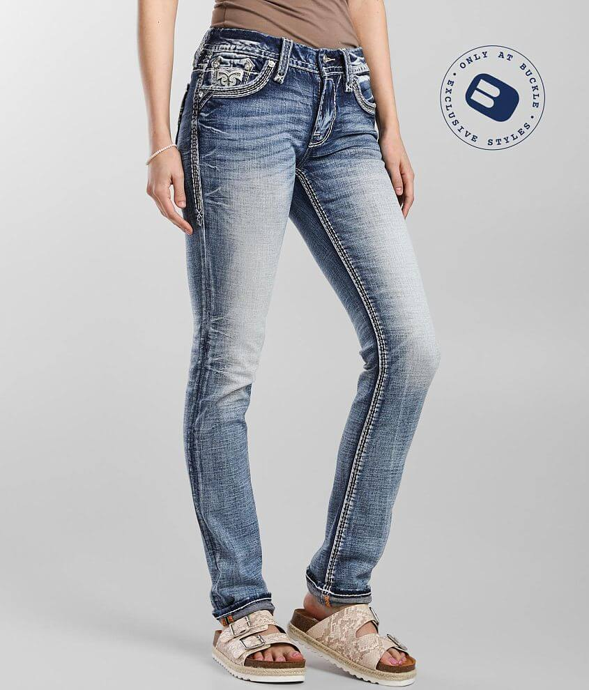 Rock Revival Clove Mid-Rise Straight Stretch Jean front view