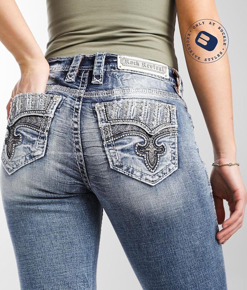 Rock Revival Ice Easy Straight Stretch Jean front view