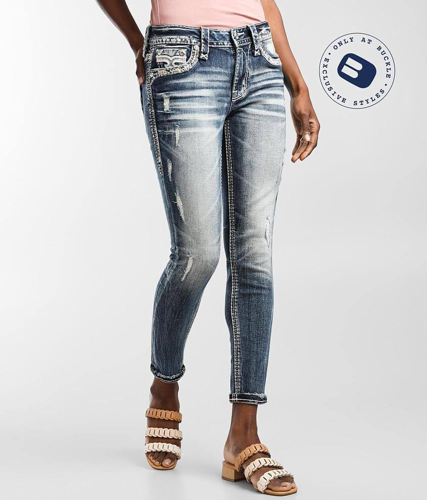 Rock Revival Flan Mid-Rise Ankle Skinny Jean front view