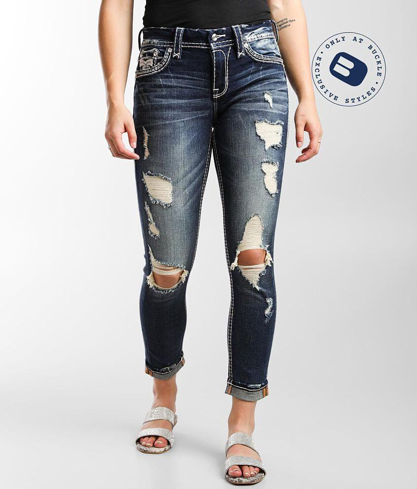 Rock Revival Purple Easy Ankle Skinny Stretch Jean front view