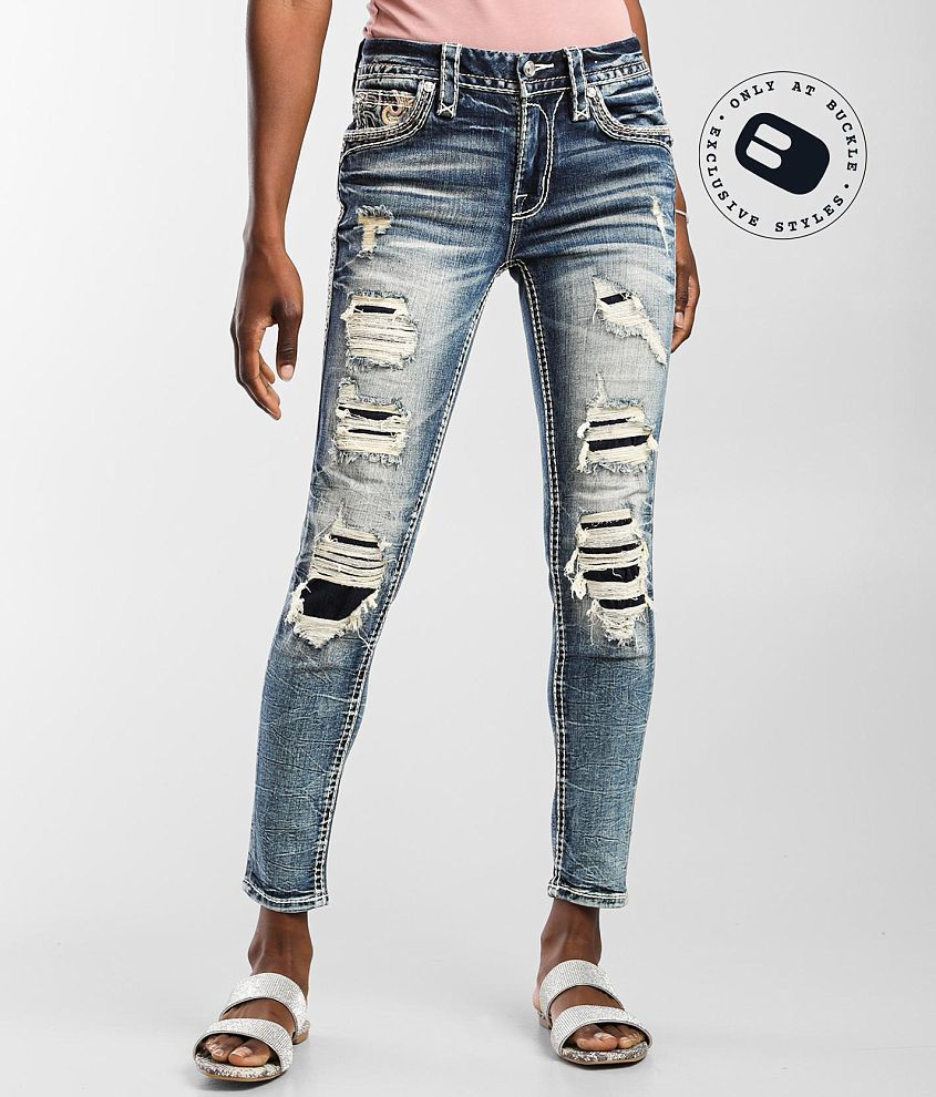 Rock Revival Agata Mid-Rise Ankle Skinny Jean front view
