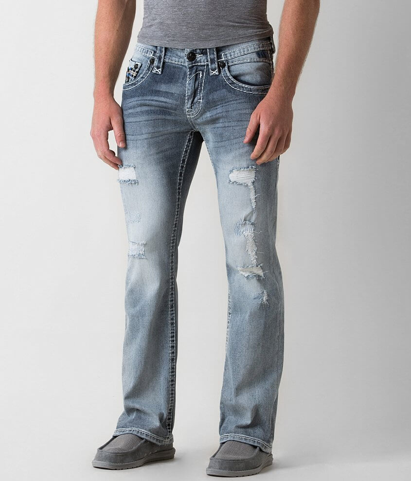 Rock Revival Pevey Slim Boot Stretch Jean front view