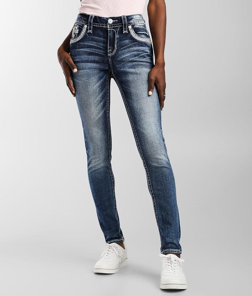 Rock Revival Yui Mid-Rise Skinny Stretch Jean front view
