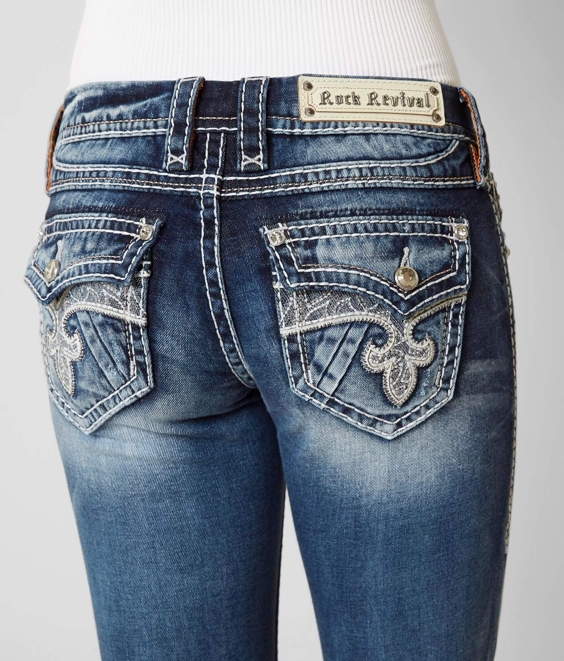 1a63e765c6a Rock Revival Kylie Boot Stretch Jean - Women s Jeans in Kylie B201 ...