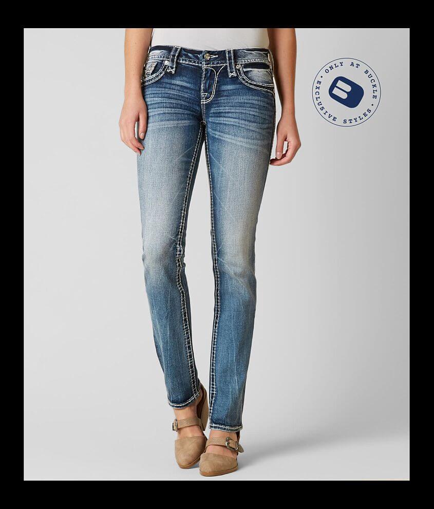 rock revival leni straight stretch jean - women's jeans in leni j200