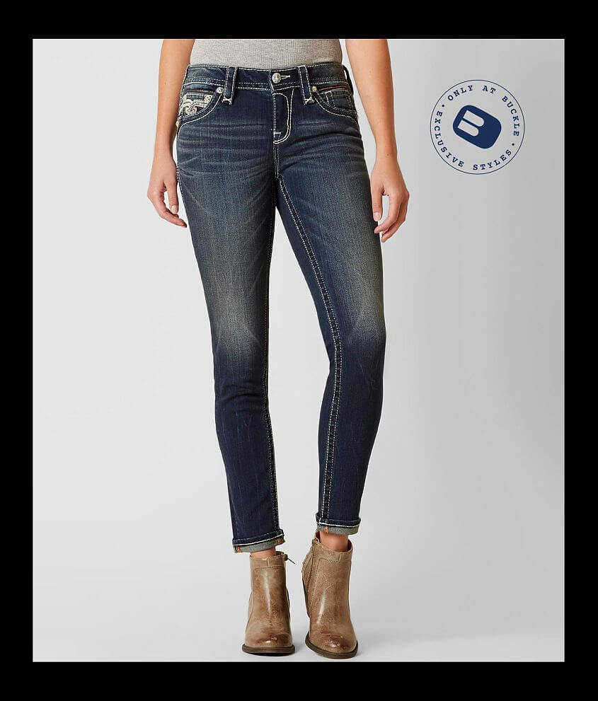 Style 9542MS200/Sku 127302 Mid-rise zip fly stretch cuffed jean 29\\\