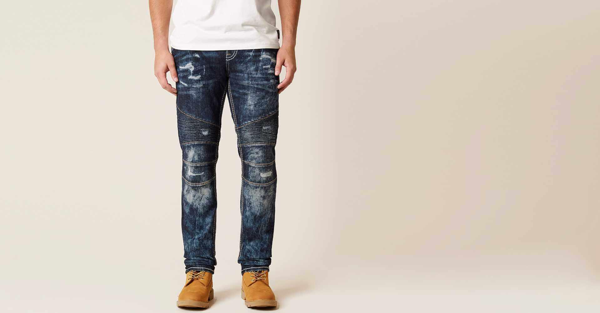 Mens jeans design legends jeans - Rock Revival James Slim Straight Stretch Jean