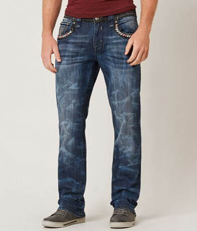 Rock Revival Rudy Relaxed Straight 17 Stretch Jean