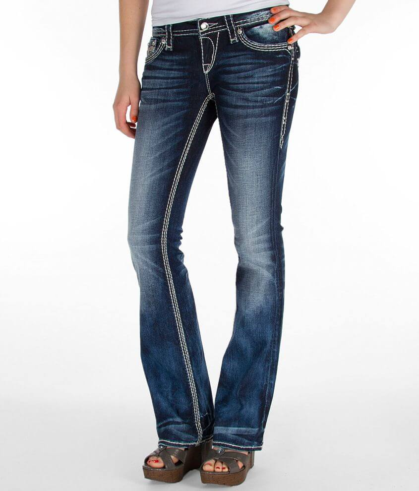 Low rise zip fly stretch jean Slim through the hip and thigh 18\\\