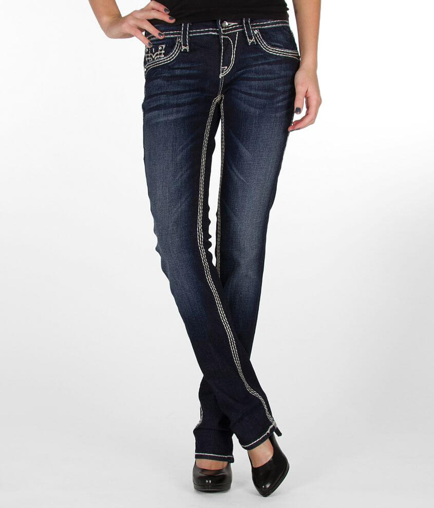 Rock Revival Kai Straight Stretch Jean front view