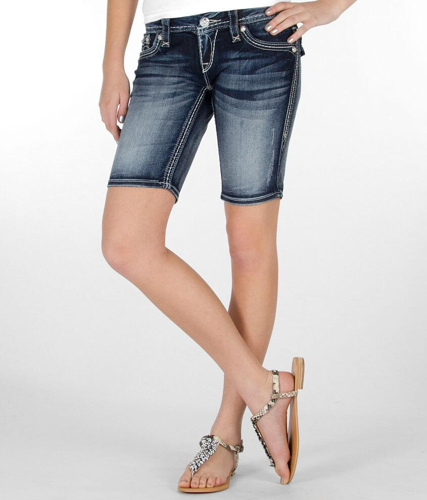Rock Revival Maggie Bermuda Stretch Short front view