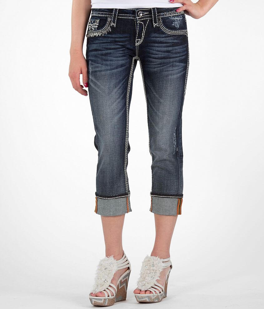 Rock Revival Serena Stretch Cropped Jean front view
