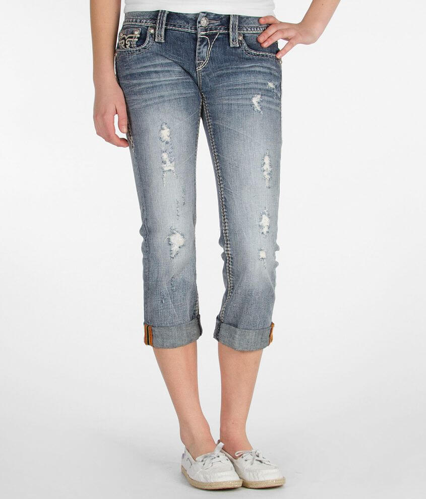 Rock Revival Ina Stretch Cropped Jean front view